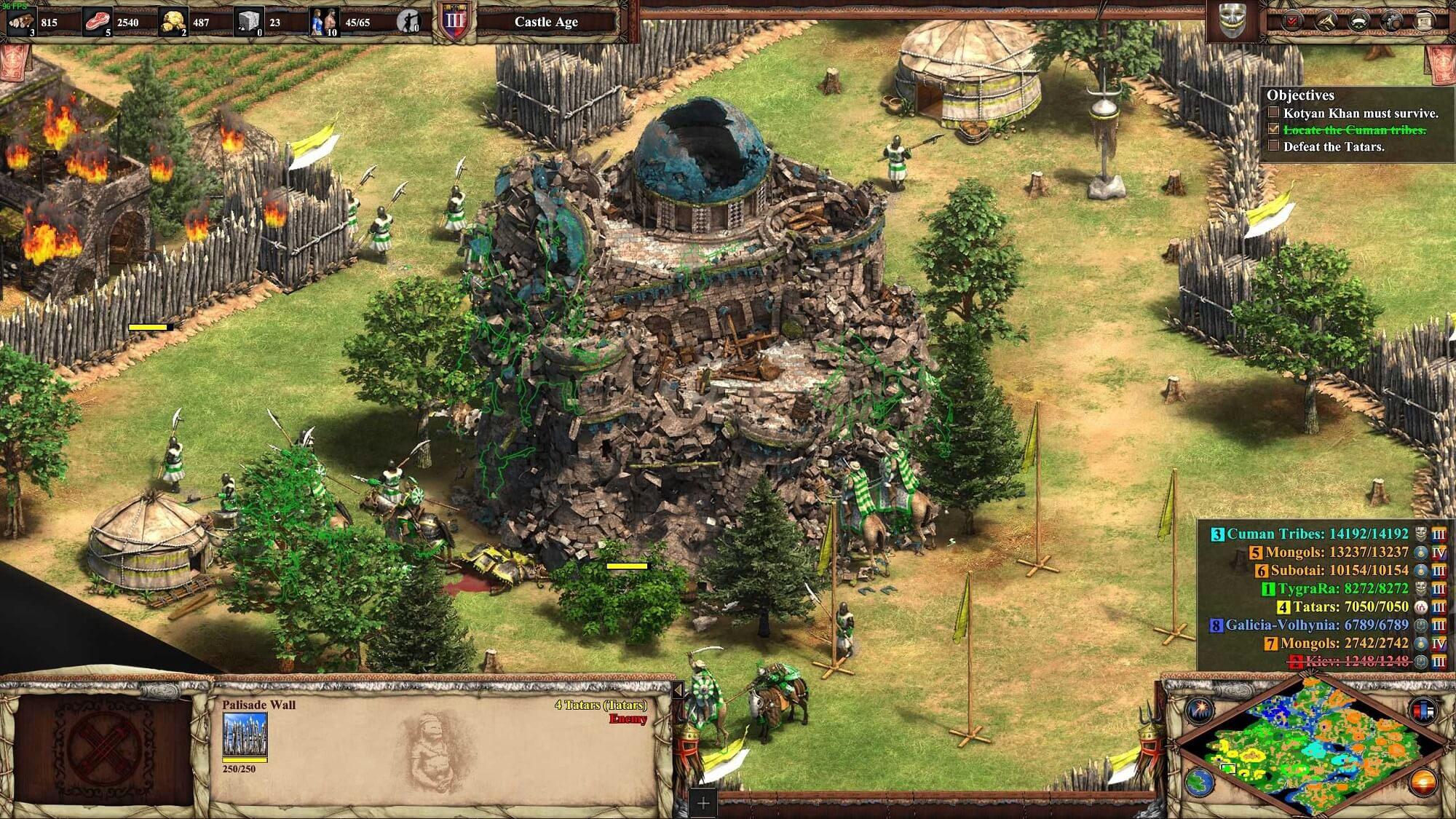 Einstürzendes Gebäude in Age of Empires 2