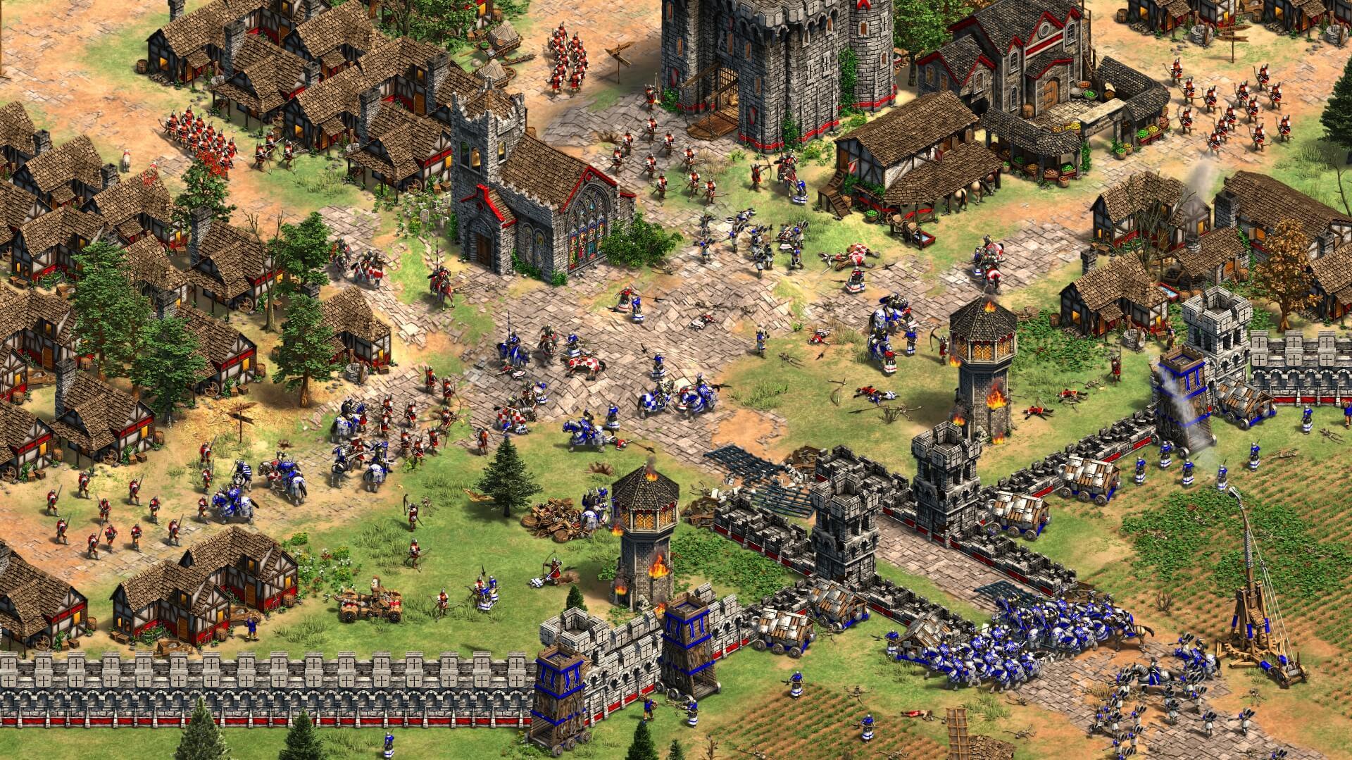 Schlachtfeld Franzosen gegen Engländer.