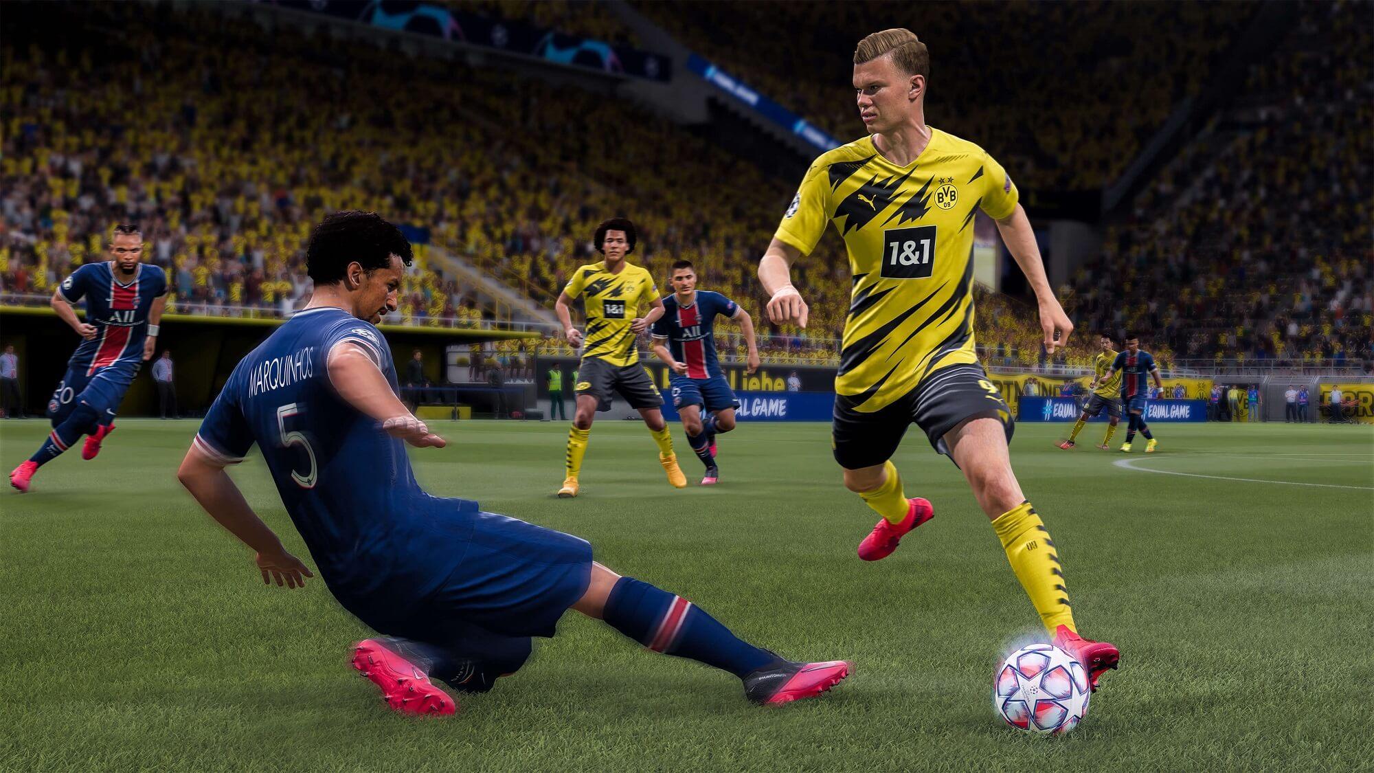 FIFA 21: Erling Haaland überläuft Marquinhos
